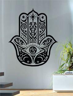 Hamsa Hand Version 3 Design Decal Sticker Wall Vinyl Decor Art