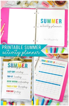 Printable summer activity planning binder - perfect for summer planning, setting goals, and more! : Printable summer activity planning binder - perfect for summer planning, setting goals, and more! Free Calendar, Printable Calendar Template, Kids Calendar, Printable Planner, Free Printables, Summer Planner, Kids Planner, Planner Journal, Happy Planner