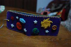 """cosmo"" felt wallet"