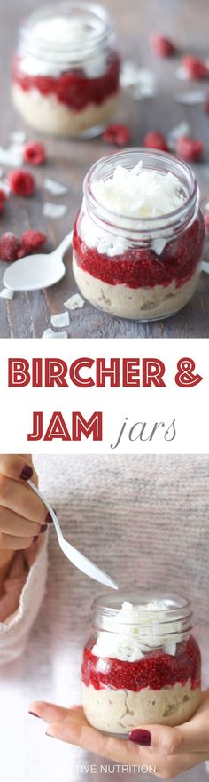 Bircher Breakfast Jars #Bircher #Breakfast #Jars