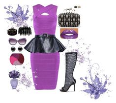"""Purple Splash"" by poshgirlus ❤ liked on Polyvore featuring Posh Girl, Pieces, Juicy Couture, Atelier Swarovski and BCBGMAXAZRIA"