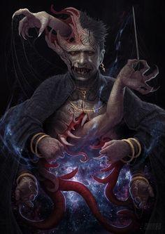 ArtStation - Sorcerer of The Old Gods, Didier Nguyen