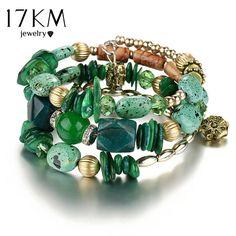 17KM Woman Boho Multilayer Beads Bracelets for Women Vintage Resin Stone Bracelets & Bangles Pulseras Ethnic Jewelry Bijouterie-in Charm Bracelets from Jewelry & Accessories on Aliexpress.com | Alibaba Group