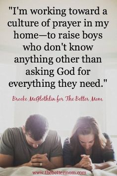 Asking God for everything they need.