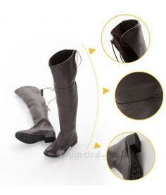 Attack on Titan Shingeki no Kyojin Mikasa Eren Lavi Military Cosplay Brown Boots $49.99 - Anime Cosplay  - Trustedeal.com