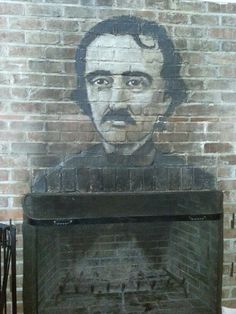 Fireplace at Poe's Tavern