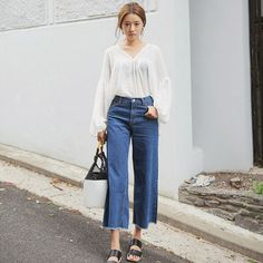 Image result for how to wear wide leg pants women