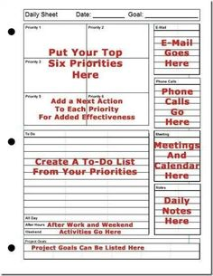 Day planner organization time management tips Ideas Agenda Planning, To Do Planner, Planner Pages, Life Planner, Happy Planner, Daily Planning, Daily Work Planner, Organized Planner, School Planner