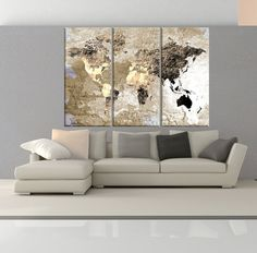 Large canvas print rustic world map large wall art world map art large canvas print rustic world map large wall art world map art extra large vintage world map print for home and office wall decoration home life gumiabroncs Choice Image
