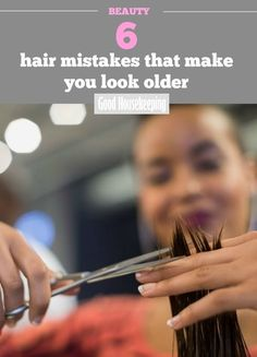 6 hair mistakes that make you look older. We asked hairdressers for their advice on age-proof hair. Dry Hair Ends, Hair Heaven, Look Older, Hair Shows, Hair Color Dark, Super Hair, Hair Trends, Hairdressers, Cool Hairstyles
