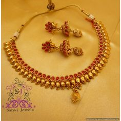 Paisley Ruby Elegant Necklace