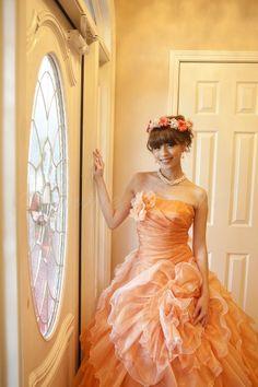 Citrus(シトラス) カラードレス オレンジ エニーブライダル