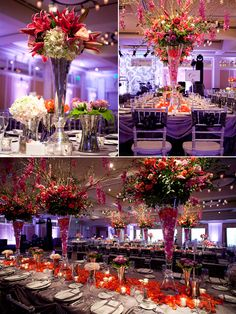 My wedding theme: Purple and Coral (with green if it's outdours.. grass and nature)