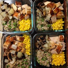 Meal Prep Sunday: Roasted Chicken & Mushroom Risotto With A Side Of Sliced Mushrooms And Onion  #sunday #mealprepping  #mealprepsunday #iifym #macros #mealprep #fit #fitfam #fitness #bbg #ifbb #healthy #cleaneating #eatclean #chicken #fitfood #food #foodie #foodporn #protein #aesthetics #nutrition #risotto #mushroom #nomnomnom #nofilter #latepost by omn0mnoms