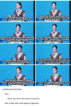 Anne Hathaway is total queen Tumblr Funny, Funny Memes, Faith In Humanity Restored, Fandoms, Conte, Mood, Super Funny, Equality, Life Quotes