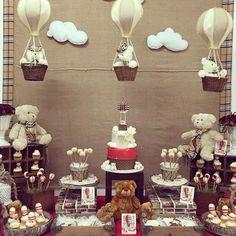 bear # air balloms balloms costume by by Teddy Bear Party, Teddy Bear Birthday, Teddy Bear Baby Shower, Baby Boy Shower, Shower Party, Baby Shower Parties, Baby Shower Themes, Baby Shower Decorations, Shower Bebe