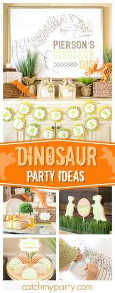 Check out this awesome Dinosaur birthday party. The dino egg cookies are so cool!! See more party ideas and share yours at CatchMyParty.com #dinosaur #boytbirthday