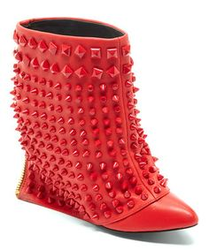 Red Battle Ankle Boot