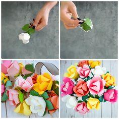 Spring Tulip Paper Flower Tutorial- DIY Paper Flower Tutorial