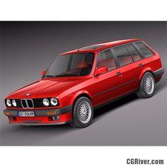 BMW e30 316i Touring - 3D Model