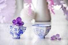 Hand-made Paper Mache Teacups
