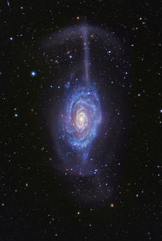 Galaxy NGC 4651 Umbrella | The spiral galaxy #NGC4651 is just 62 million light-years away from Earth..