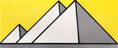 ROY LICHTENSTEIN, PYRAMIDS III, 1969