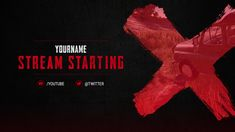 Red Twitch Overlay Template New Twitch Layout Template Awesome Battleground Stream Starting Overlay Sports Graphic Design, Graphic Design Services, Logo Design, Design Art, Layout Template, Banner Template, Profile Picture Maker, Twitch Streaming Setup, Youtube Design