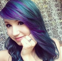 Purple and Teal hair. Kalel Cullen.