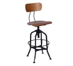 too industrial?  we really don't want a fabric chair bc of how much wear and tear/food etc.