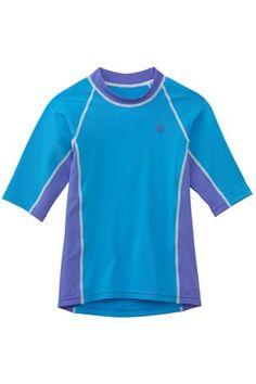 Girl's Short-sleeve Rash Guard - Coolibar Sun Protection You Wear