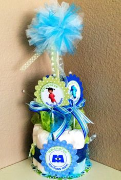 Monsters Inc Baby Shower, Diaper Cakes, Hanukkah, Compliments, Sons, Decor Ideas, Party, My Son, Parties