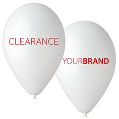 Promotional 'Clearance' Balloons Printed With Your Brand Logo. Spot Colour Printing or Full Colour HD Printing in CMYK. Print Up to 4 Sides, Same or Different Designs!  #printedballoons #brandedballoons #promotionalballoons #printed #balloons #promotions #promotional #products #branding #clearance #retail