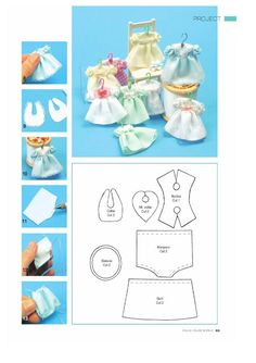 how to: mini doll dress pattern- Use for Calico Critters Dollhouse Dolls, Miniature Dolls, Dollhouse Miniatures, Dollhouse Miniature Tutorials, Baby Doll Clothes, Barbie Clothes, Dress Clothes, Doll Dress Patterns, Sewing Patterns