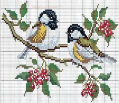 Мною любимые птахи ...вышивка крестом - 29 схем