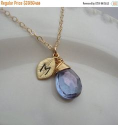 Please take a minute to check my shipping and store policies before ordering. Just click on the shipping & policies tab under the main picture of this listing.    Would you like to add a special message to this listing and customize your jewelry?  Lovely message display cards to choose from available here  https://www.etsy.com/listing/177287212/on-sale-message-display-card-choose-a?ref=shop_home_active_8    Would you like to add little charms, extra initials or gemstones to your order?…