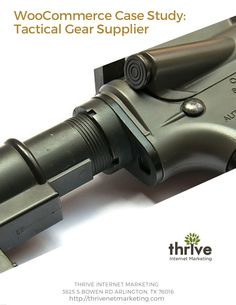 Thrive Internet Marketing worked with a tactical gear and firearms supplier to redesign their outdated website. Thrive created a new ecommerce site for the company using WordPress and WooCommerce. Thrive was able to launch the ecommerce site on-time and the design and usability changes lead to a significant year-over-year sales increase. #WordPress #WooCommerce