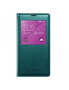 Δερμάτινη Θήκη Βιβλίο Smart Cover με Ενσωματωμένο Καπάκι Μπαταρίας για Samsung Galaxy S5 G900 - Πράσινο