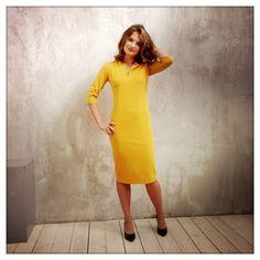Платье Одри цвет горчично-желтый! Цена 4900 Размеры 40 - 50 Заказать 8 916 302 0 222 Посмотреть на сайте http://www.fedorastudio.ru/shop/bag/card/ru.5565.htm