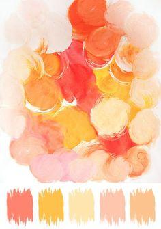 Citrus inspired color palette