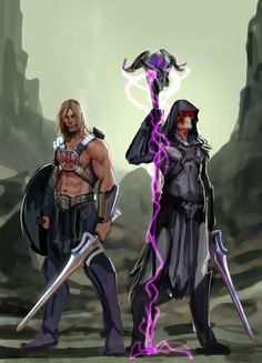 by the power of grayskull and snake mountain by *nebezial on deviantART #MotU