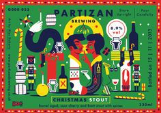 beer labels for London based brewery Partizan // by Alex Doherty