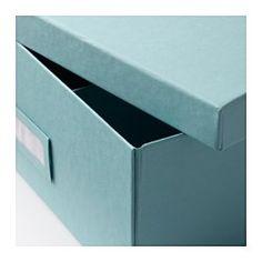 TJENA Boîte compartimentée, bleu clair - 27x35x10 cm - IKEA