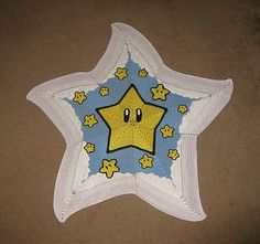 Super Mario Bros. Star Blanket (Free Crochet Pattern)