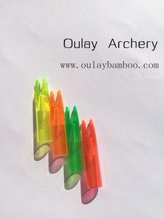 green and orange No frontiers Fiberglass arrows