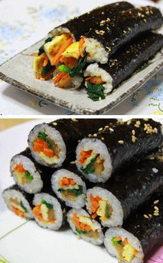 Mini Kimbap- I've been waiting for someone to make this for me, looks like I need to make them.