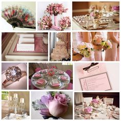 Vintage Victorian Wedding Theme. Love the cherry blossoms? in picture 2.