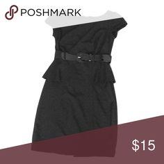 Little Black Dress Little Black Dress with detached belt and slit in the back. Dresses Midi