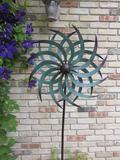 Metal Wind Spinner Green