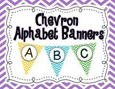 https://www.teacherspayteachers.com/Product/Chevron-Alphabet-Banners-A-Z-1299303
